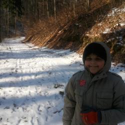 Zimowy spacerek tradycyjnie do naszego lasu nad domem .