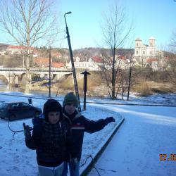 Łukasz i jego kolega Kamil z którym miał bardzo dobry kontakt w przeszłości podczas turnusów rehabilitacyjnych.