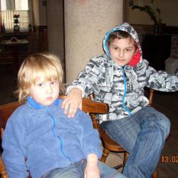 Większym zainteresowaniem cieszył się brat Kamila -Mikołaj . Łukasza ogólnie interesowały małe dzieci.