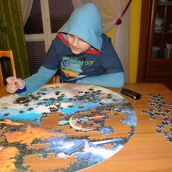 Fantastyczne puzzle kosmiczne, które dostałemna urodziny.