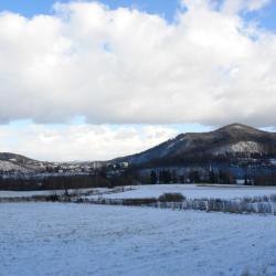 A tu widok na panoramę Barda i Góry Kalwarii z naszej górki.