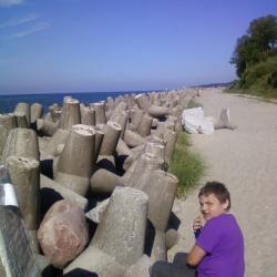 Na plaży w Jarosławcu.