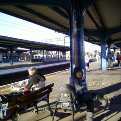 W czerwcu 2013 r. udało się wyjechać do Jarosławca. Tutaj stacja przesiadkowa w Stargardzie Szczecińskim.