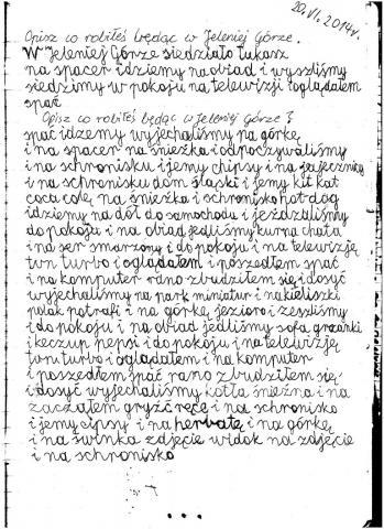 W Jeleniej Górze byliśmy 10-15.06.2014 r. Opis był zrobiony 20.06.2014 r. po powrocie .