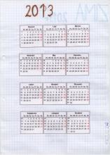 2) Kalendarz