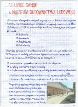 170) Sanok i Muzeum Budownictwa Ludowego - 14 lipiec