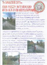 160) XXVII Pieszy Rajd Integracyjny z Mikołajowa na Srebrną Górę  - 14 grudzień